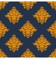 Gold and blue damask style seamless pattern vector image vector image