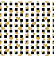 Golden hearts square seamless pattern vector image vector image