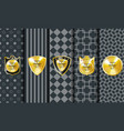 golden vintage pattern on dark background vector image vector image
