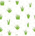 hand drawn green grass seamless pattern vector image