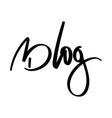 handwriting word blog vector image