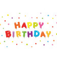 happy birthday festive background banner template vector image vector image