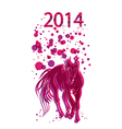 happy chinese new year horse 2014 background vector image vector image