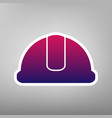 hardhat sign purple gradient icon on vector image vector image