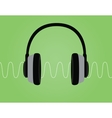 headphone noise signal sound wave vector image