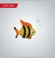 isolated tuna flat icon seafood element vector image vector image