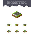 isometric way set of plane navigation turning vector image vector image