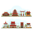 japan landscape traditional china cultural vector image vector image