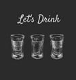 lets drink three kinds of alcoholic drinks in vector image