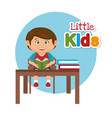 little schoolboy in the classroom vector image vector image