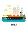 Natural gas design vector image