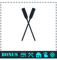 Paddle icon flat vector image vector image