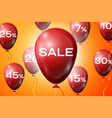red balloons with an inscription sale sale concept vector image vector image