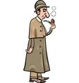 retro detective cartoon vector image
