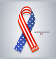 ribbons america flag independence day vector image