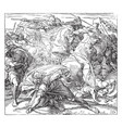 saul kills himself by falling on his sword vintage vector image vector image