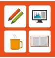 set accesories office work vector image