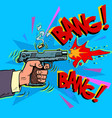 shot from a gun comic style attack bullet attack vector image