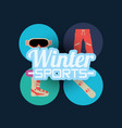 snowboarding and winter sports vector image vector image