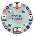 Social network emblem vector image vector image
