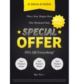Special Offer on black vector image vector image
