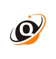 star swoosh letter q vector image vector image
