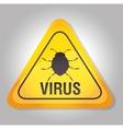 system data detection virus warning vector image