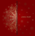 the template for greeting card in red and gold vector image vector image