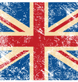UK retro flag vector image