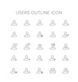 users line icon set vector image