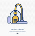 vacuum cleaner thin line icon vector image
