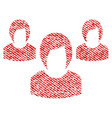 woman group fabric textured icon vector image vector image