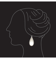 Woman with earring vector image