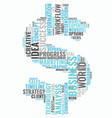 word cloud business concept dollar sign from text vector image vector image