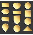 yellow icons set vector image vector image