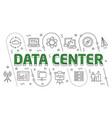 linear data center vector image