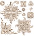 paisley pattern set vector image