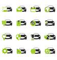 car service icons set vector image