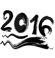 text of 2016 vector image