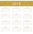 2018 calendar popular premium for business vector image vector image