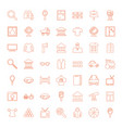 49 view icons vector image vector image