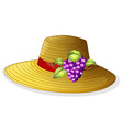 A fashionable hat with a fruit vector image vector image