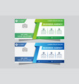 abstract banner design web template set vector image vector image