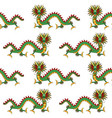 asian dragon seamless pattern vector image