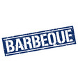 barbeque square grunge stamp vector image vector image