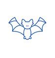 bat line icon concept bat flat symbol vector image vector image