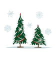 Big and small christmas trees for your design vector image vector image