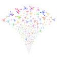 big bang fountain stream vector image vector image