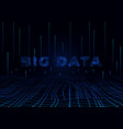 big data perspective background design template vector image