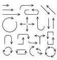 black arrows hand drawn icons vector image vector image